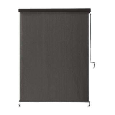 Montecito Cordless UV Blocking Fade Resistant Polypropylene Exterior Roller Shade 48 in. W x 96 in. L