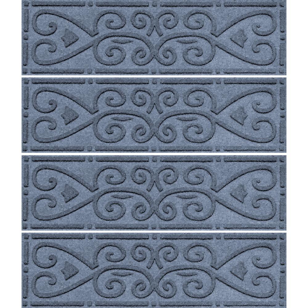 Bluestone 8.5 in. x 30 in. Scroll Stair Tread Cover (Set of 4)