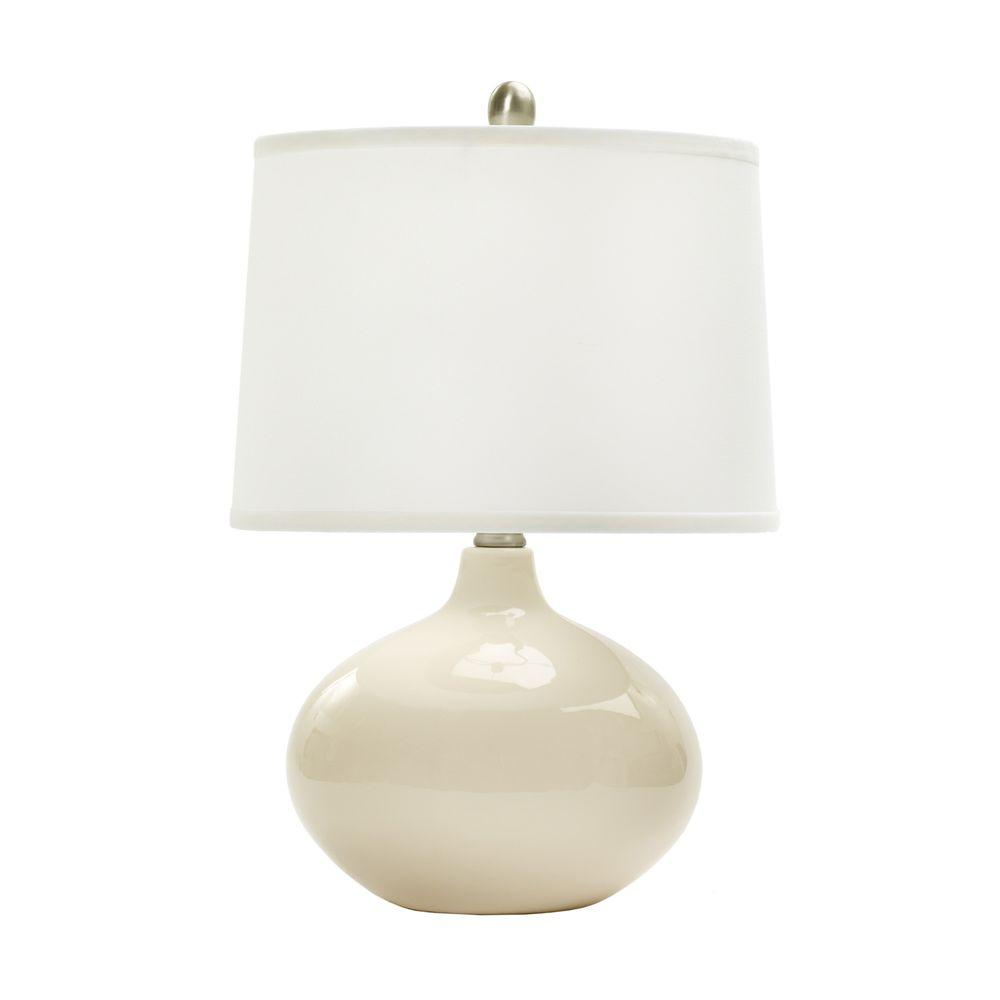 20 In Chapman Ivory Ceramic Table Lamp W Mr8883chapiv The Home Depot