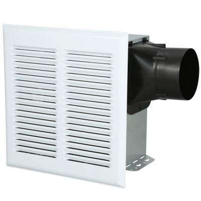 InVent Series Heavy Duty 80 CFM Ceiling Roomside Installation Bathroom Exhaust Fan with Light