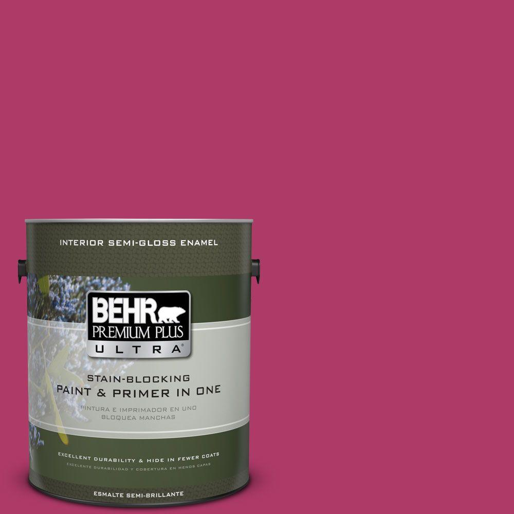 1 gal. #HDC-SM16-04 Bing Cherry Pie Semi-Gloss Enamel Interior Paint