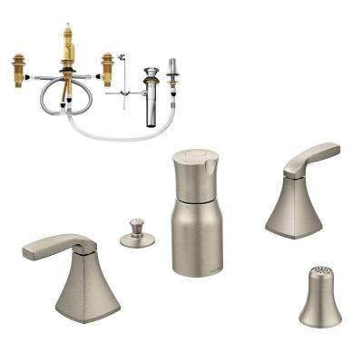 Voss 2-Handle Bidet Faucet Trim Kit with Valve in Brushed Nickel