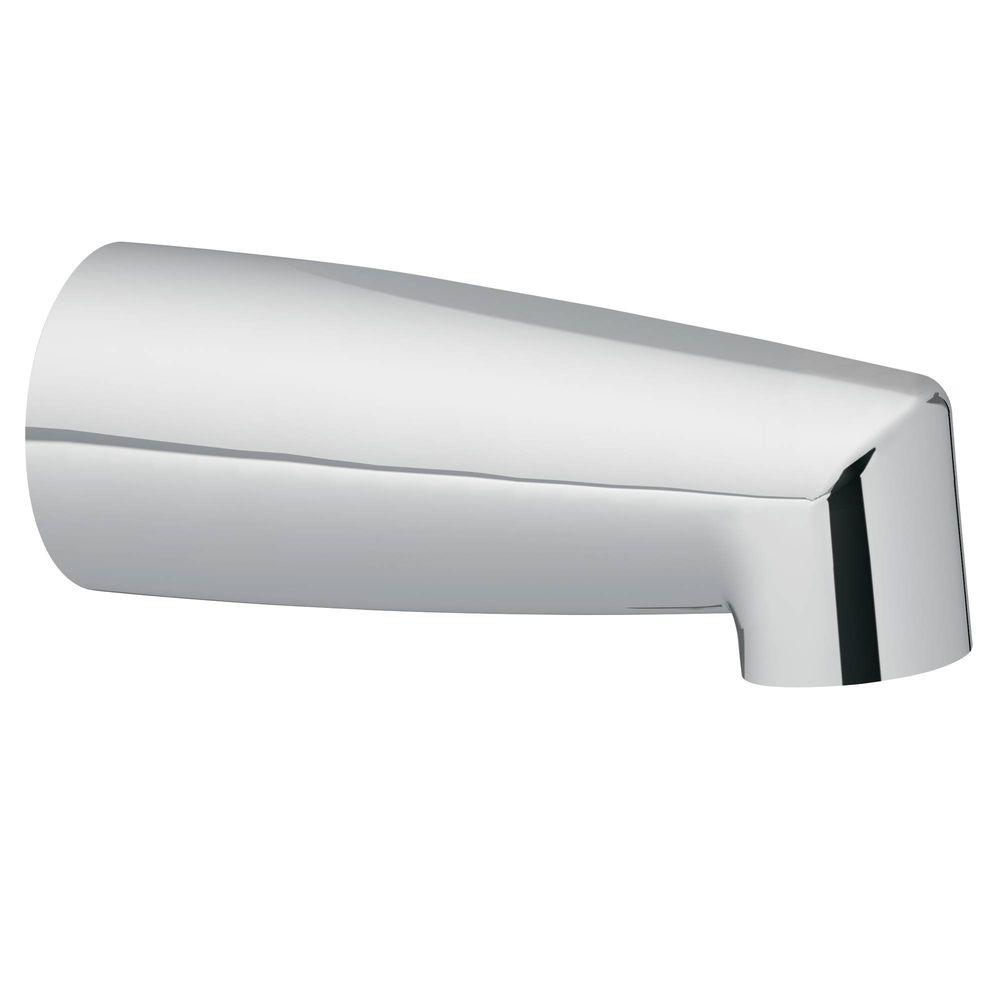 MOEN Non-Diverter Tub Spout with Slip Fit Connection in Chrome-3829 ...