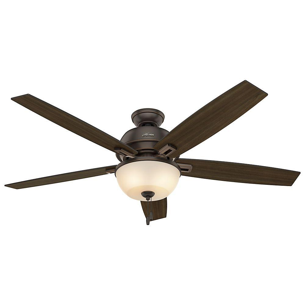 Donegan 60 in LED Indoor Onyx Bengal Bronze Ceiling Fan with