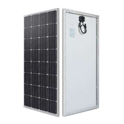 160-Watt 12-Volt Monocrystalline Solar Panel for RV, Boat, Back-Up System Off-Grid Application