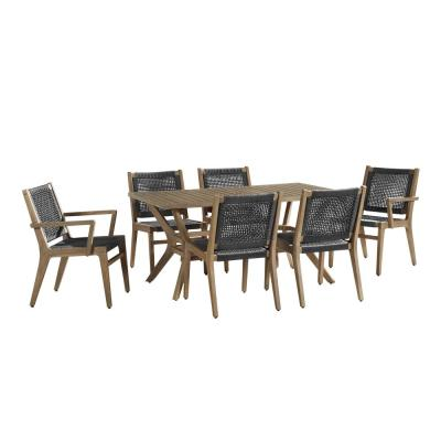 Quinn 7-Piece Wood Outdoor Dining Set