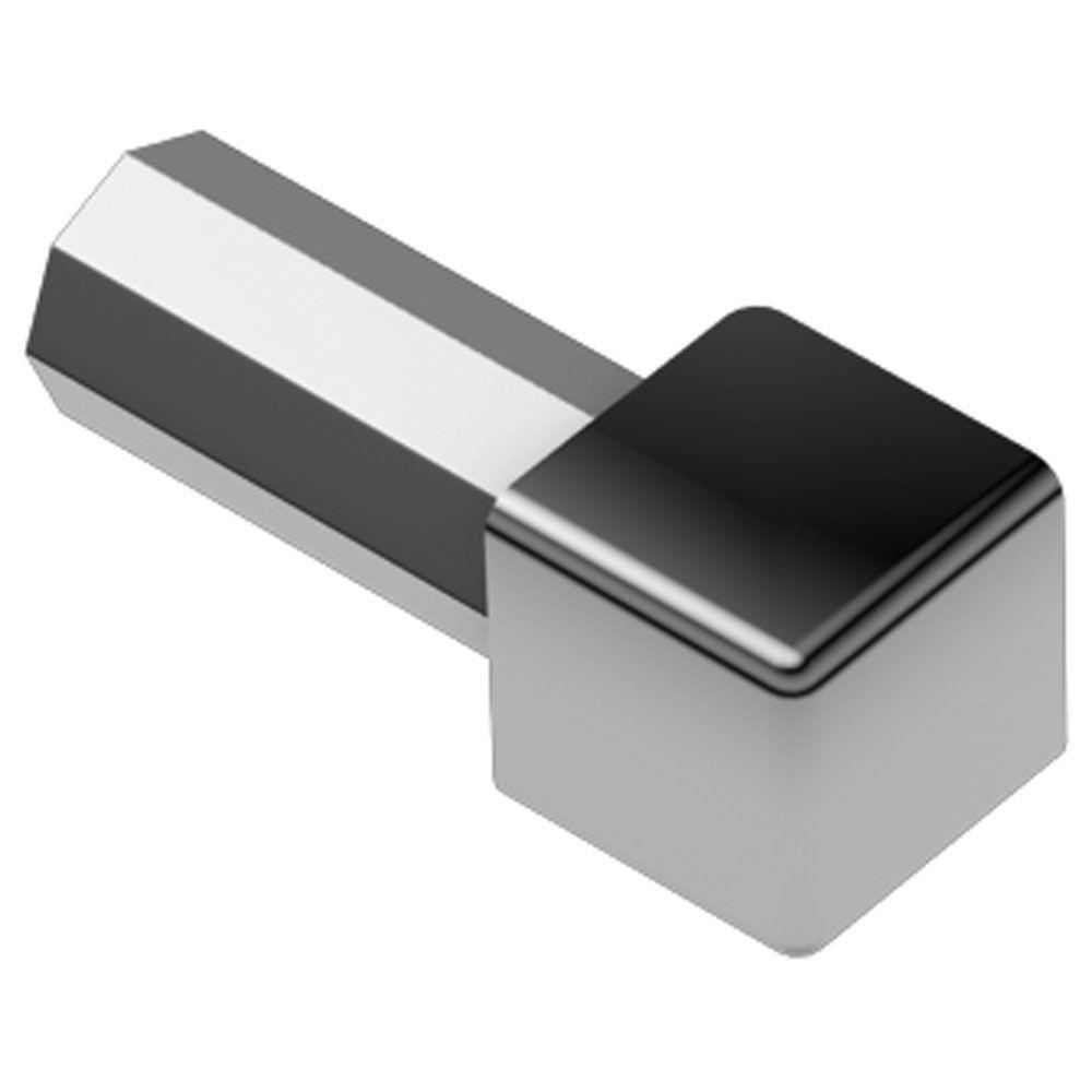 Quadec Stainless Steel 5/16 in. x 1 in. Metal Inside/Outside Corner