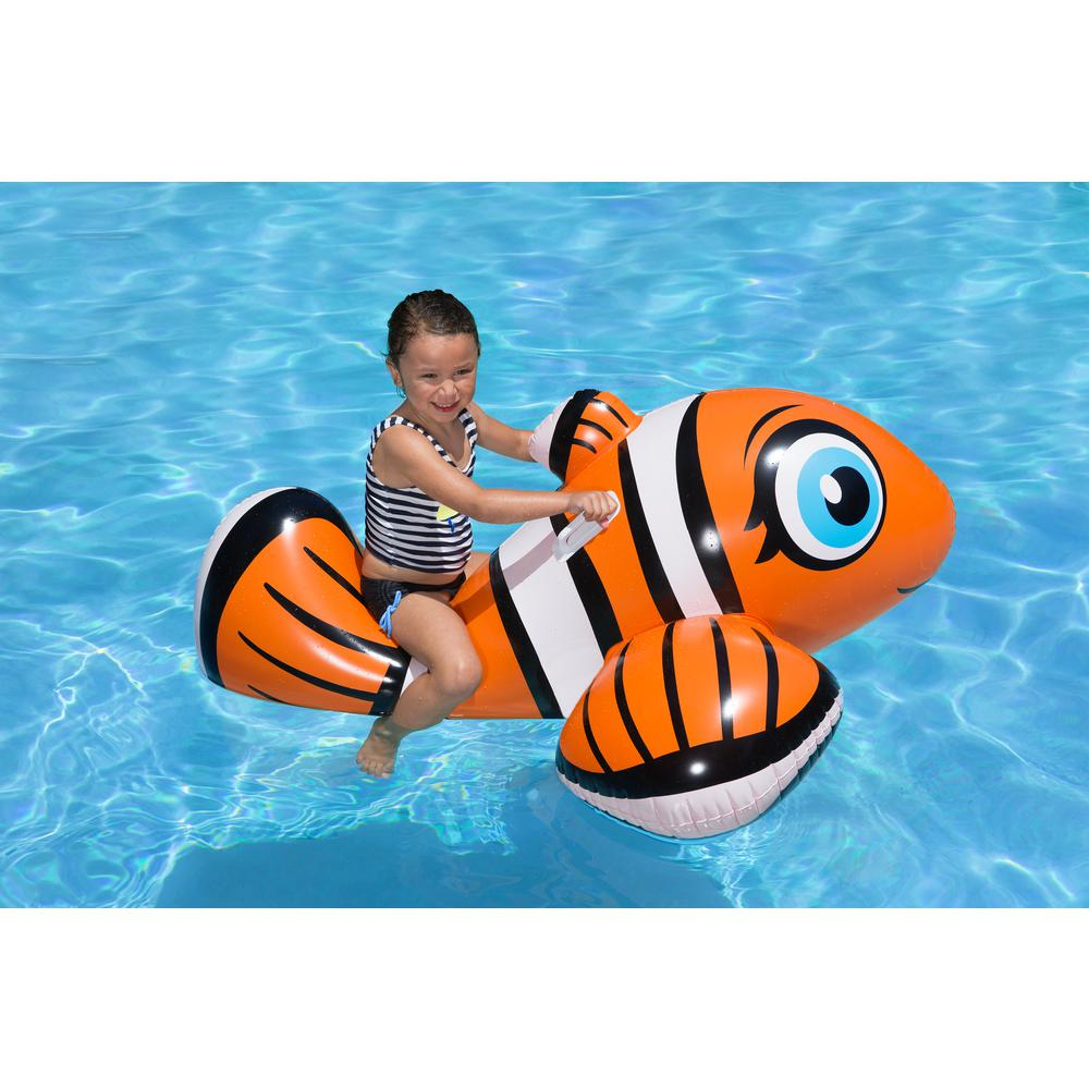 Poolmaster Clown Fish Swimming Pool Float Rider-81701 - The Home Depot