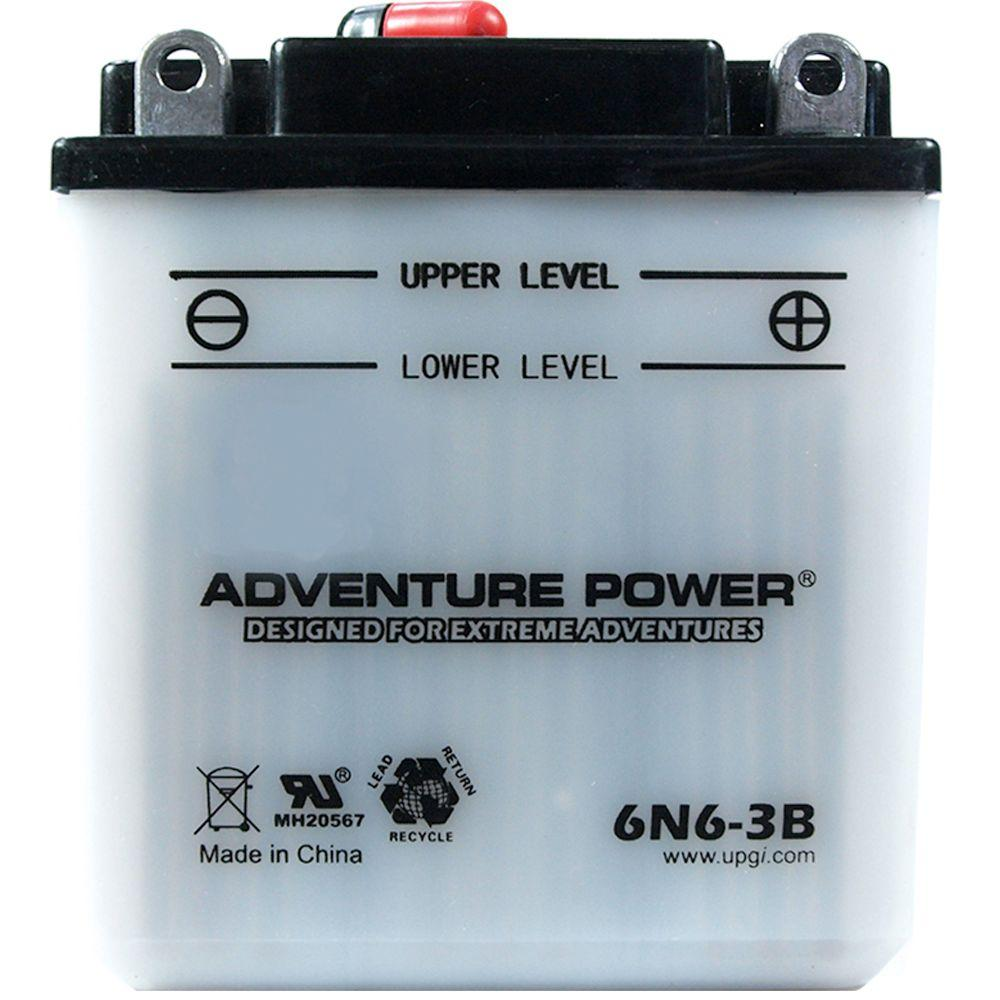 UPG Conventional Wet Pack 6-Volt 6 Ah Capacity F Terminal Battery