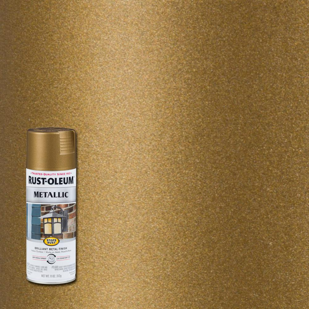 Rust oleum stops rust 11 oz champagne bronze protective enamel metallic spray paint 313142 Metallic spray paint colors