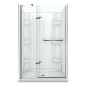 MAAX Reveal 36 In. X 48 In. X 76 1/2 In. Shower Stall In  White 105954 000 001 100   The Home Depot