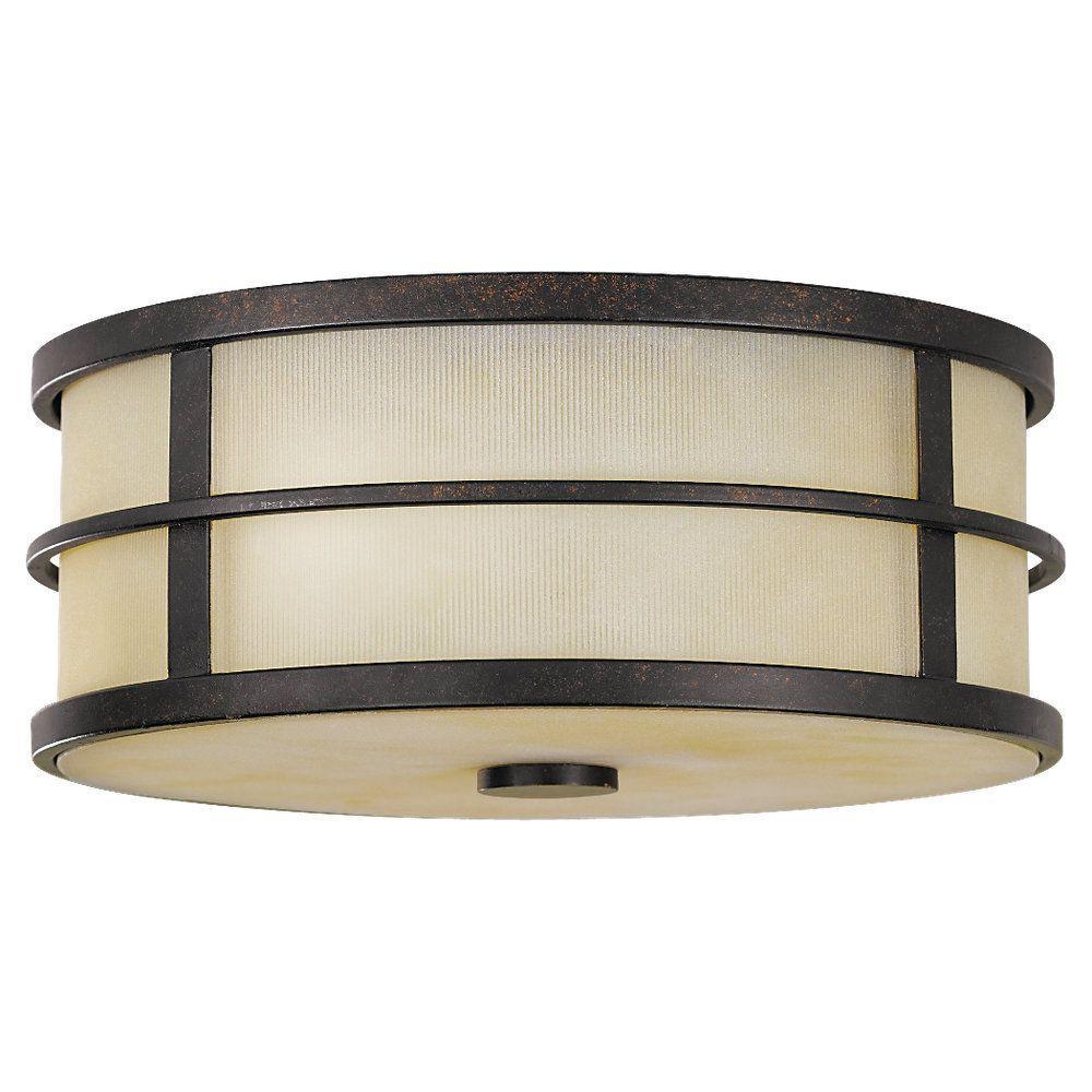 Fusion 2-Light Grecian Bronze Indoor Flushmount
