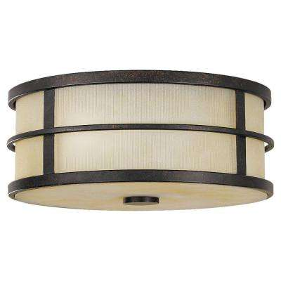 Fusion 2-Light Grecian Bronze Indoor Flushmount