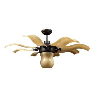 Fiore 42 in. Indoor Roman Bronze Retractable Ceiling Fan with Remote Control
