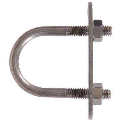 5/16 in. x 3-1/2 in. x 2-1/2 in. Stainless Steel U-Bolt with Plate and Hex Nuts (5-Pack)