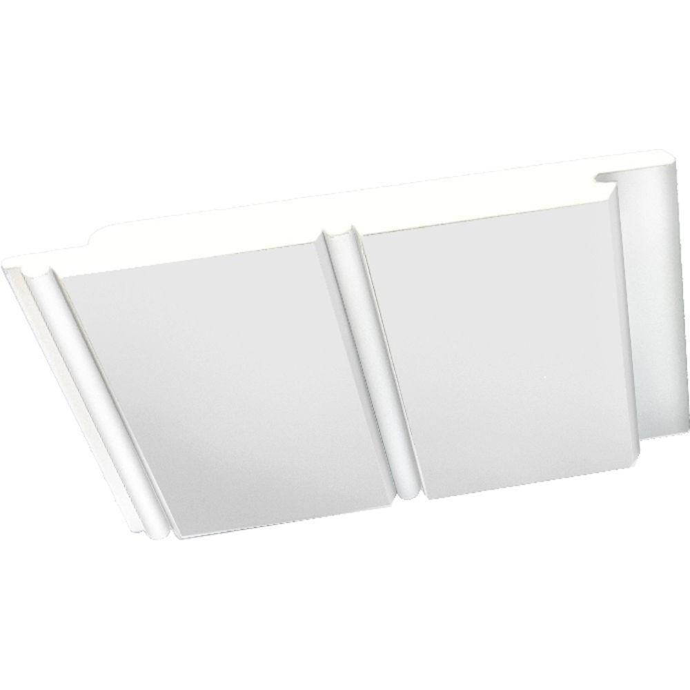 Pvc Board Siding : Veranda in white pvc bead board siding