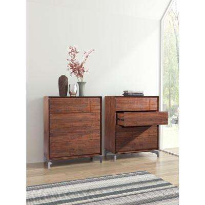 Perth 4-Drawer Chestnut High Chest