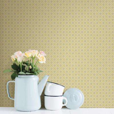 Classic Chesapeake Yellow Wallpaper Home Decor The Home Depot