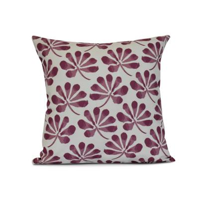 Ina Floral Print Throw Pillow in Purple