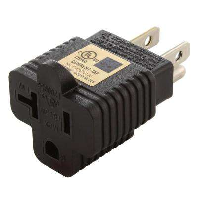 Plug Adapter 15 Amp Household Plug to 20 Amp T-Blade Female Outlet Adapter (NEMA 5-15P to 5-15/20R)