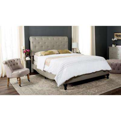 Hathaway Light Grey Full Upholstered Bed