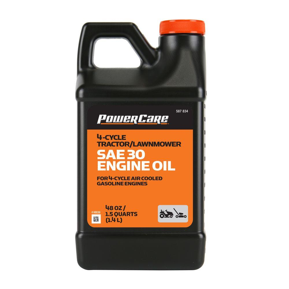 Sae 30 Oil >> Power Care Sae 30 48 Oz Lawnmower Oil
