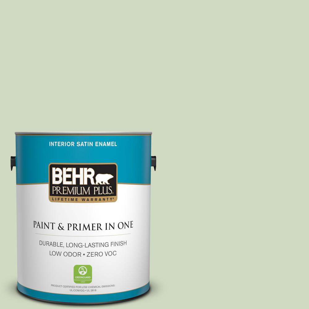 1-gal. #M380-2 Glade Green Satin Enamel Interior Paint