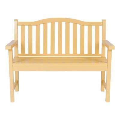 Belfort Cedar Wood Outdoor Garden Bench 43.25 in. - Bee's Wax