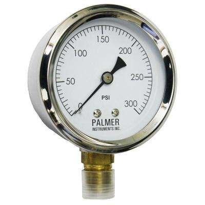 2.5 in. Dial 300 psi Stainless Steel Case Utility Gauge