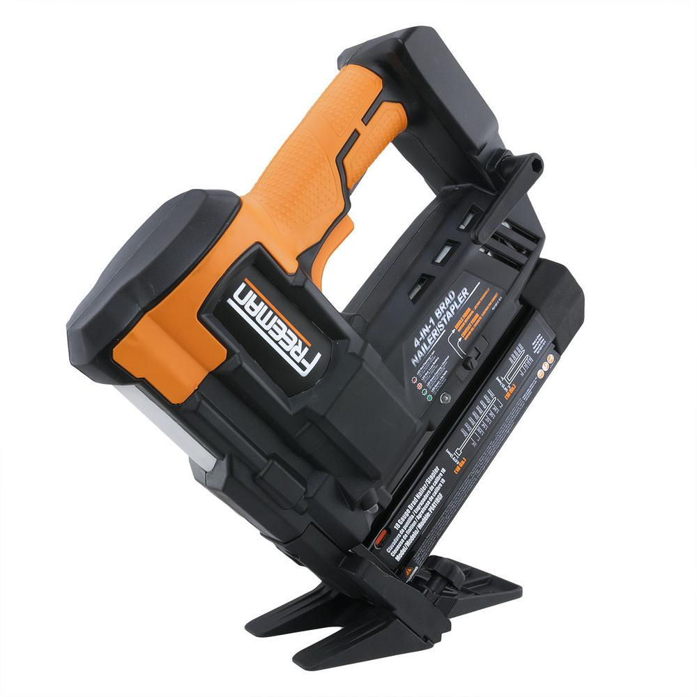 Freeman Cordless 20-Volt 4-in-1 18 Gauge 2 inch Flooring Nailer and Stapler w/ Lithium-Ion Batteries, Case, and Fasteners