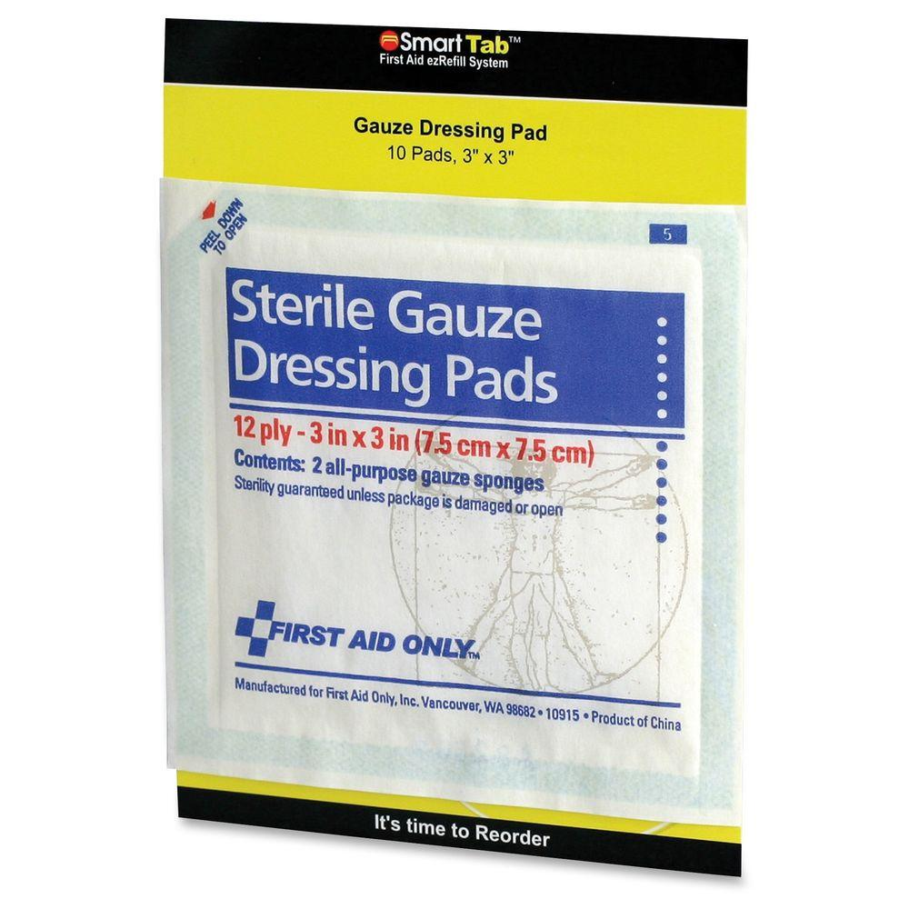 First Aid Only Sterile Gauze Dressing Pads Faofae5005 The Home Depot