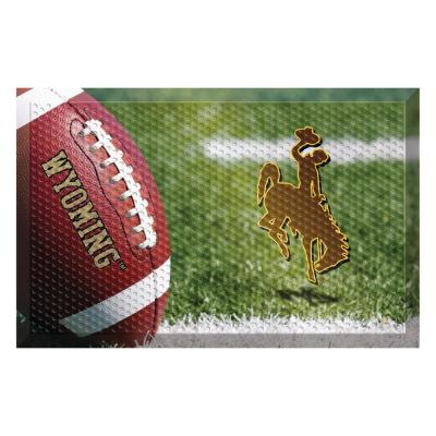 University of Wyoming Football Heavy Duty Rubber Outdoor Scraprer Door Mat