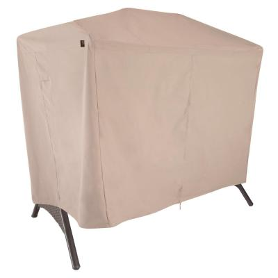 Chalet Water Resistant 2-Seat Outdoor Patio Canopy Swing Cover, 87 in. W x 64 in. D x 66 in. H, Beige