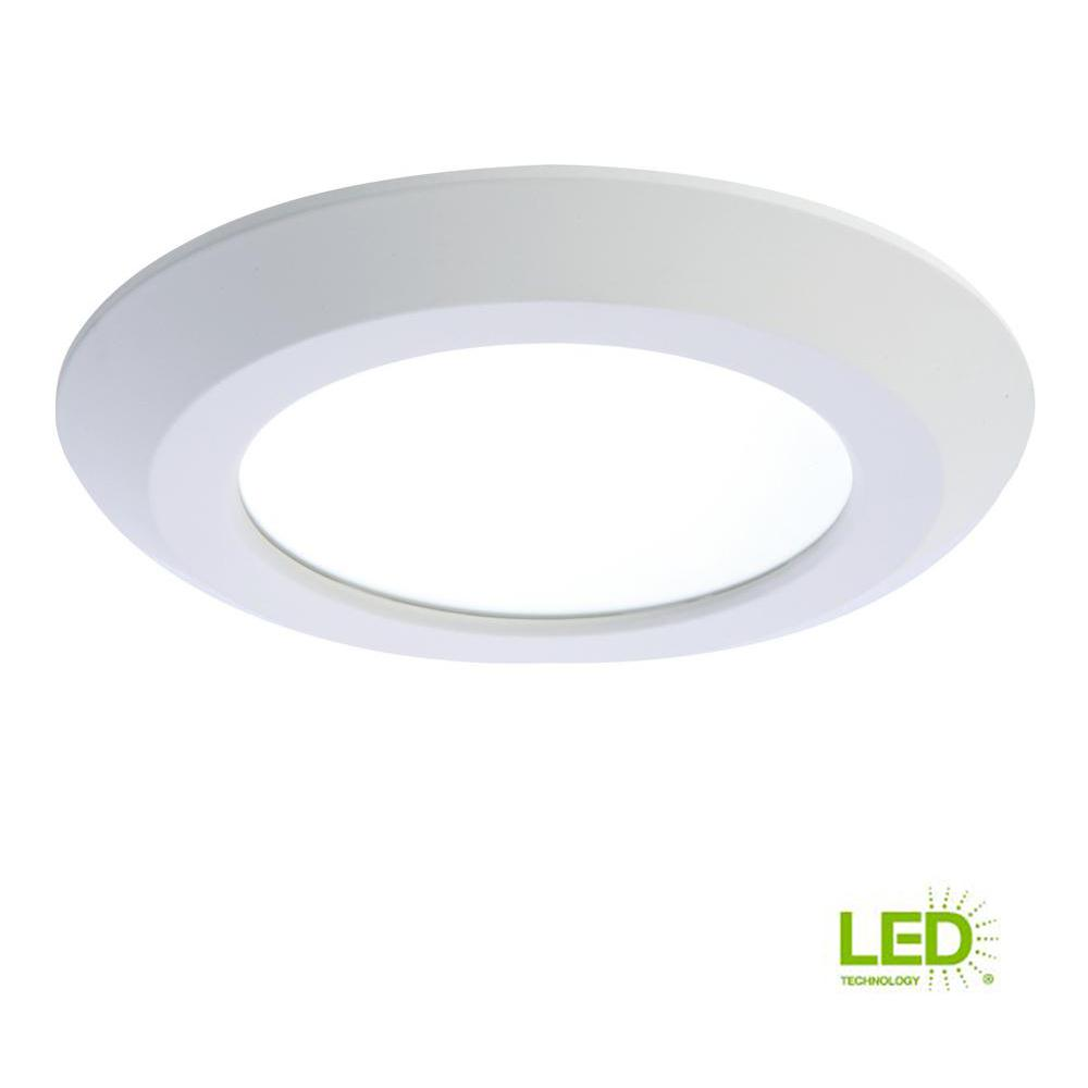 Recessed Lighting White Integrated LED Recessed Retrofit Ceiling Mount