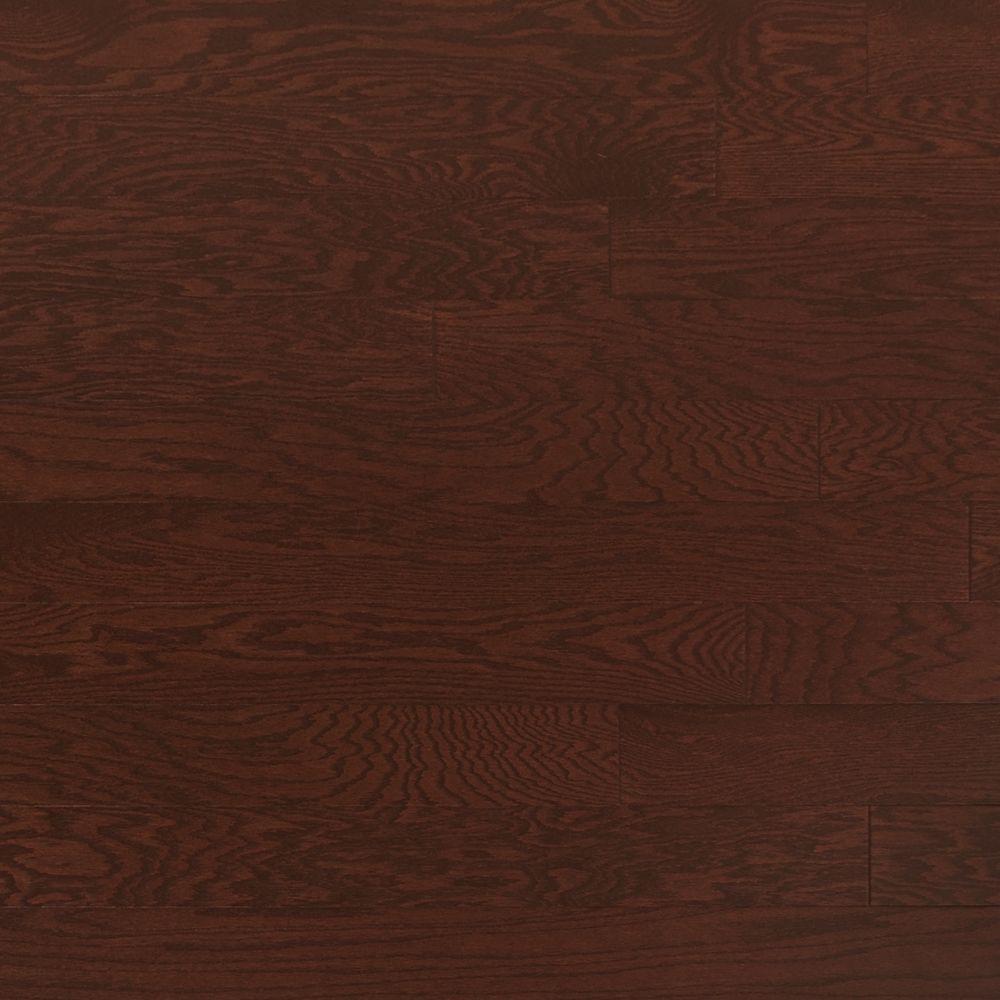 Oak Merlot 3/8 in. Thick x 4-3/4 in. Wide x Random Length Engineered Click Hardwood Flooring (33 sq. ft. / case)
