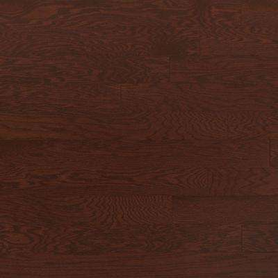 Oak Merlot 3/4 in. Thick x 4 in. Wide x Random Length Solid Real Hardwood Flooring (21 sq. ft. / case)
