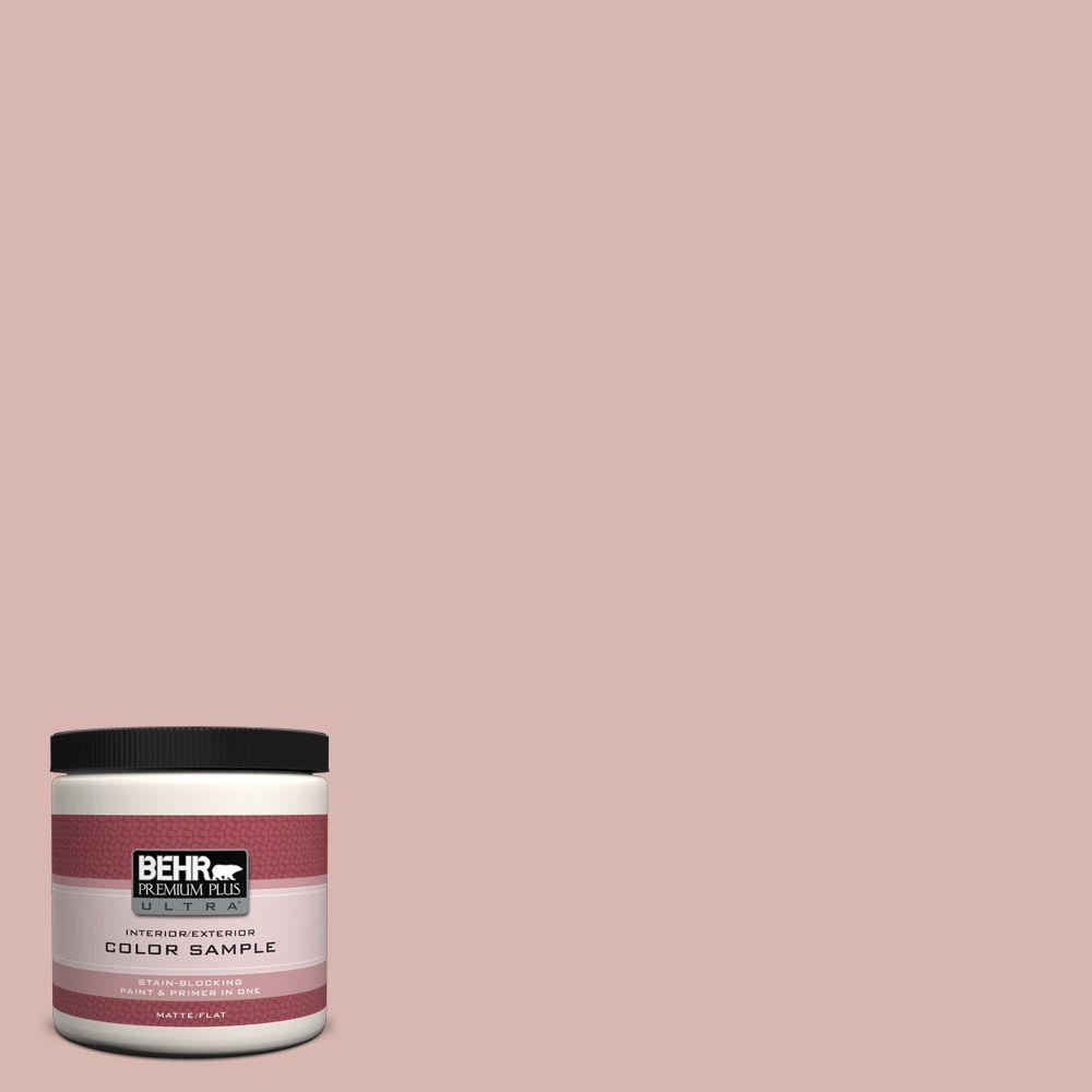 BEHR Premium Plus Ultra 8 oz. #170E-3 Bridal Rose Interior/Exterior Paint Sample