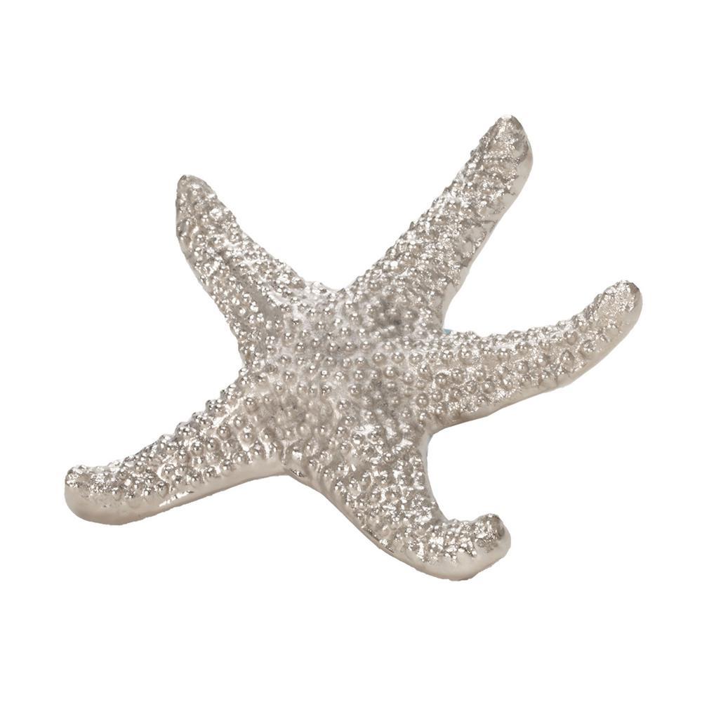 9 in. Sea Star Decorative Figurine in Silver