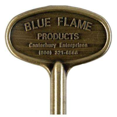 8 in. Universal Gas Valve Key in Antique Brass