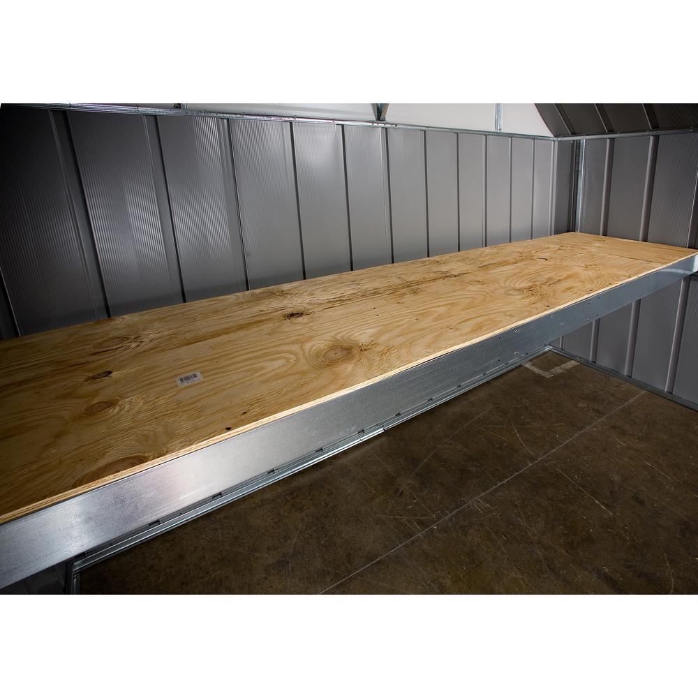 Arrow Steel Attic Workbench Frame Kit For 10 Ft Storage Building