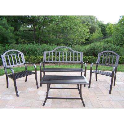 Rochester Collection Hammertone Bronze 4-Piece Patio Conversation Set