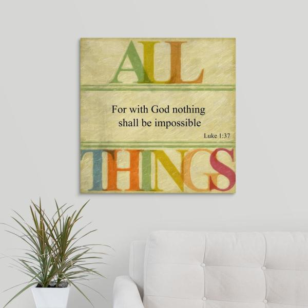 GreatBigCanvas ''All Things'' by Taylor Greene Canvas Wall Art 2453854_24_24x24