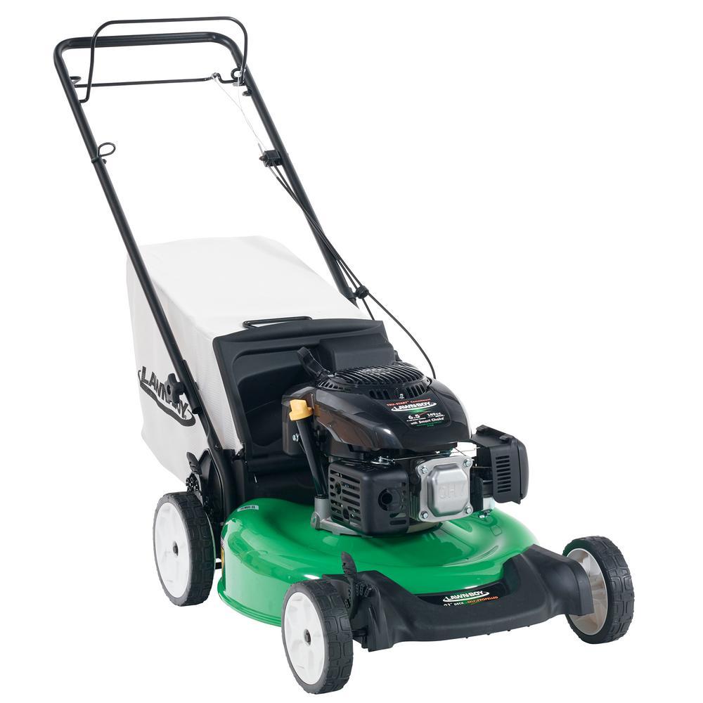 Click here to buy Lawn-Boy 21 inch Rear-Wheel Drive Gas Walk Behind Self Propelled Lawn Mower with Kohler Engine by Lawn-Boy.