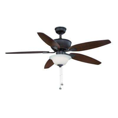 Carrolton II 52 in. Integrated LED Indoor Oil Rubbed Bronze Ceiling Fan with Light Kit