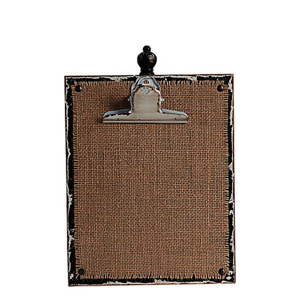Home Decorators Collection 12 In H Natural Black Vertical Photo Clipboard 9249410810 The Home
