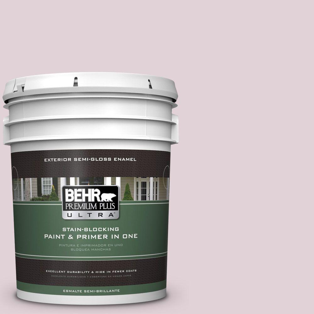 5 gal. #T15-07 Secret Blush Semi-Gloss Enamel Exterior Paint
