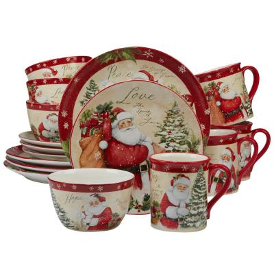 Holiday Wishes by Susan Winget 16-Piece Dinnerware Set