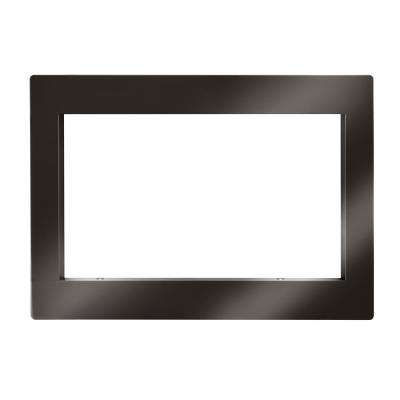 Trim Kit for Countertop Microwave Oven in Black Stainless Steel