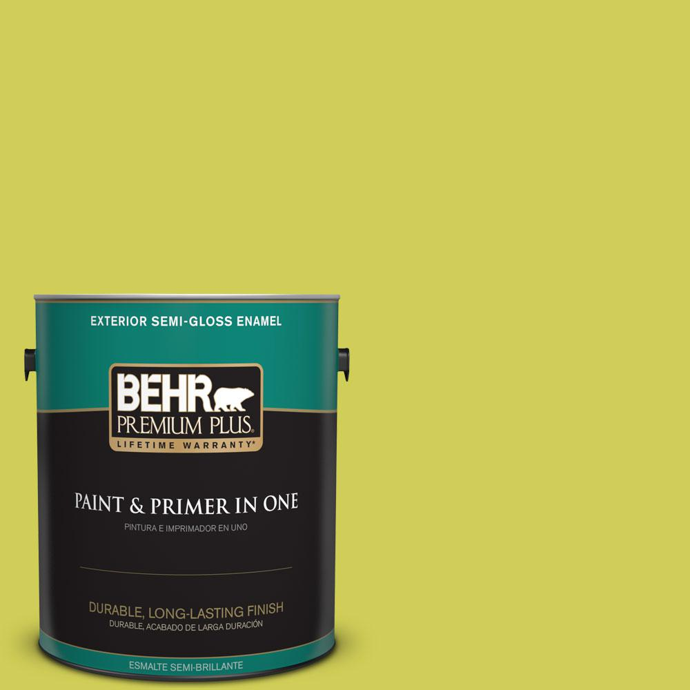1-gal. #400B-5 Grape Green Semi-Gloss Enamel Exterior Paint