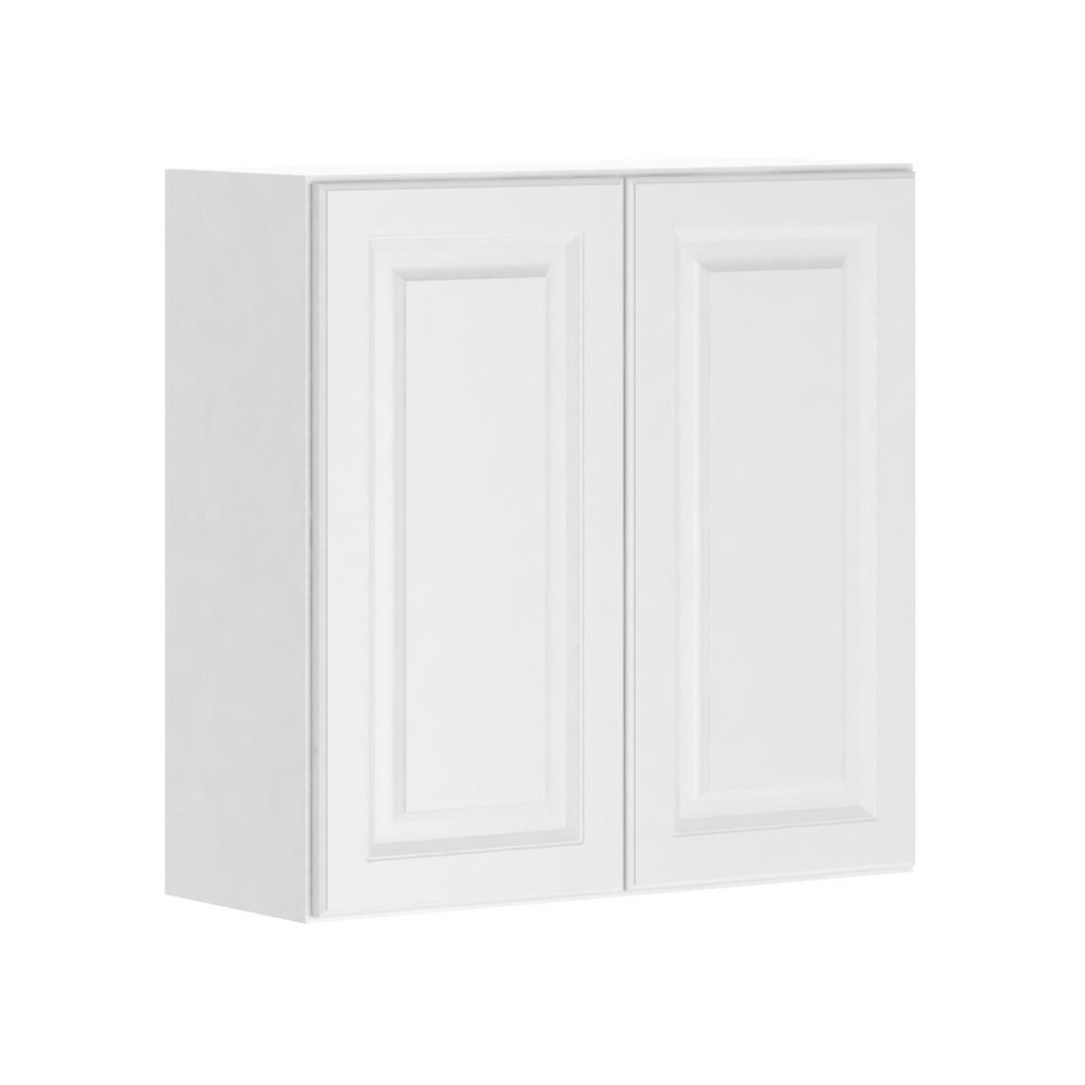 hampton bay Madison Assembled 30x30x12 in. Wall Cabinet in Warm White